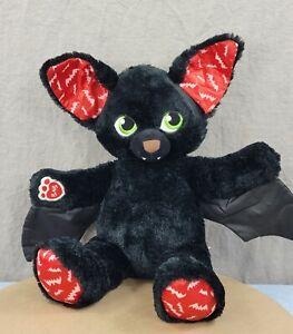 "Build a Bear Vampire Bat Glow 19"" Plush Spooktacular Boorrific Black MLP Sound"