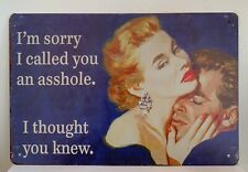 Tin Sign Funny Relationship Ass* Quotes Sayings Retro Metal Signs Plaques