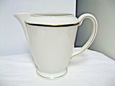 "Older China Suisse Langenthal marked 6"" Footed Pitcher #35 -Gold Trim"