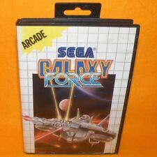 VINTAGE 1989 SEGA MASTER SYSTEM GALAXY FORCE CARTRIDGE VIDEO GAME PAL (ARCADE)