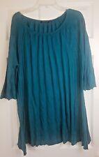 Atmosphere Ladies Green Pleated Light Top Dress Shirt Blouse Size UK 16 / EU 44