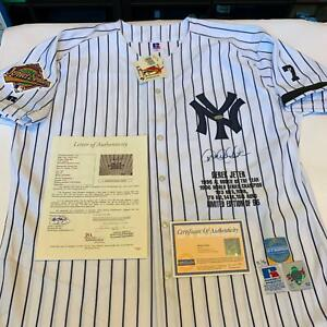 Rare Derek Jeter Rookie Signed New York Yankees 1996 World Series Jersey Steiner