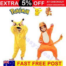 Halloween Kids Pajamas Cosplay Costume Pokemon Pikachu Fiery Dragon Pyjamas suit