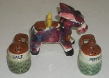 Vintage RELCO Japan Burro / Donkey with Jugs ~ Salt & Pepper Shakers EXCELLENT!