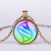 NEW Anime Pokemon mega stone Jewelry Glass Dome Pendant Necklace XL1063