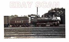 8G719 (2) RP 1940s FRISCO RAILROAD 4-4-0 LOCOMOTIVE #1887