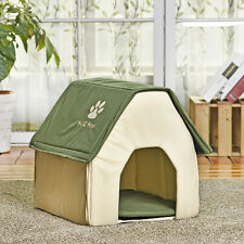 Pet Dog Beds Small Cat House Puppy Kennel Cave Cushion Indoor Windproof Beds