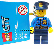 LEGO policier porte-clés keychain figurine new