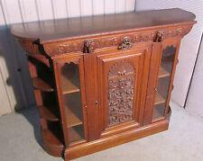 Oak Victorian Antique Cabinets
