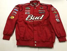 Dale Earnhardt Jr. Budweiser Chase Authentic Embroidered Red Jacket Mens Large