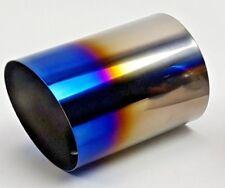 "101mm / 4"" UNIVERSAL True Titanium Slip Burnt On Muffler Exhaust Tip Angle Cut"