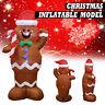 1.5M Inflatable Gingerbread Snowman Santa Christmas Outdoor Garden Decoration