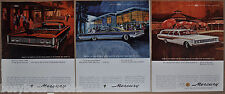 1965 MERCURY advertisements x3, Mercury Monterey, Park Lane Montclair, wagon