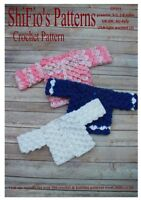 CROCHET PATTERN for BABY CROCODILE CARDIGAN IN 3 Sizes #311 NOT CLOTHES