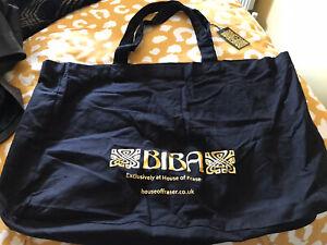 BIBA Black Canvas Shopping Bag Extra Large New
