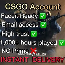 CSGO Account / FaceIt Ready / Email Access / 1,000+ hours played