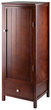Small Storage Cabinet Floor Cupboard Kitchen Bathroom Laundry Pantry Wood NEW