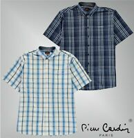Mens Pierre Cardin Short Sleeve Check Pattern Shirt Top Sizes from 2XL to 6XL