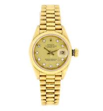 Rolex Oyster Perpetual Datejust Damen Uhr Swiss Made 750er Gelbgold