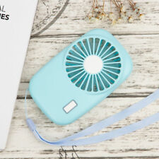 Mini Portable USB Rechargeable Hand Held Air Conditioner Summer Cooler Fan Blue
