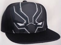 692a1540932 Hat Cap Licensed Marvel Comics Black Panther Face Flat BIll CC