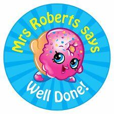 80 Pegatinas De Recompensa Profesor Personalizado alumnos Donut Azul