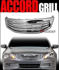 FOR 2011-2012 HONDA ACCORD SEDAN CHROME MU FRONT BUMPER GRILL GRILLE GUARD ABS