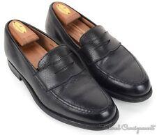 CROCKET & JONES Black Pebble Leather Penny Loafer Dress Shoes - UK 9.5 / US 10.5