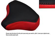 Negro Y Rojo Custom encaja Honda Pa 50 Frontal Primavera Cuero Funda De Asiento