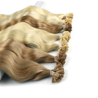 20'' 50g/lot 1g/s Keratin Nail Tip 100% Remy  Human Hair Extension Natural Wave