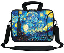 "11.6"" 12.3"" Neoprene Laptop Bag Case w. Side Pocket Shoulder Strap Handle  3009"