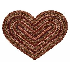 "IHF Home Decor Braided Area Rug Heart Shaped 20"" x 30"" Jute Apple Cider Design"