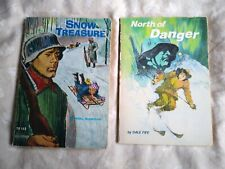 Snow Treasure And North Of Danger WW2 Children's Books Norway Vintage