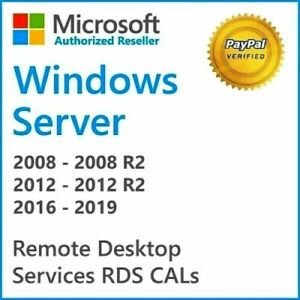 RDS Remote Desktop Services 50 user or device cals on all win server est/std/dtc