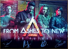 FROM ASHES TO NEW The Future 2018 Ltd Ed Signed By All 4 RARE Litho Poster! FATN