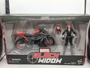 MARVEL LEGENDS BLACK WIDOW FIGURE WITH MOTORCYCLE BIKE BRAND NEW
