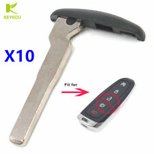 10PCSXReplacement Uncut Smart Remote Emergency Insert Key Blade for Ford Lincoln