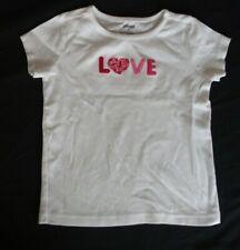 Gymboree 6 Girls Shirt EUC LOVE Valentine's Day short sleeve summer fall spring