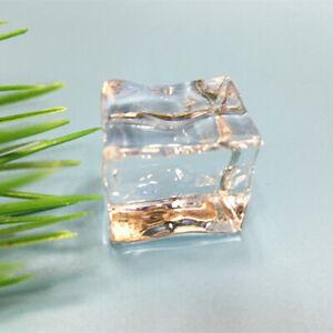 10PCS 2,5CM Acryl Ice Cubes Wedding Party Display Künstlich kristallklar Dekor