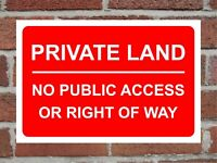 NO PUBLIC ACCESS 200x235mm signs//stickers
