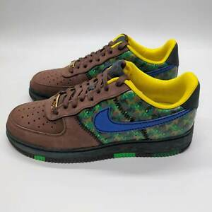 Nike Air Force 1 07 Low 'Doernbecher' Brown Blue Camo Size 10 349440-200 2009
