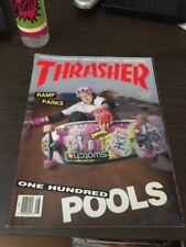 Thrasher Skateboard Magazine August 1989 Carabeth Burnside Magnusson 8/89 Aug