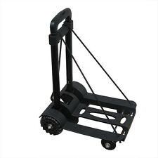 Luggage Cart Folding Hand Truck Moving Dolly Push Collapsible Trolley Aluminum