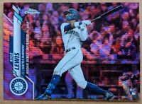 Kyle Lewis - Mariners ROOKIE PINK WAVE SP 🔥💎 2020 Topps Chrome Update RC MINT