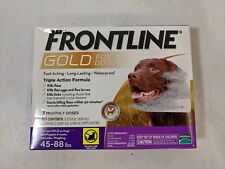 Merial Frontline Gold for Dogs 45-88 lbs 3 doses Flea And Tick Formula New inBox