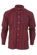 Camicie casual da uomo a manica lunga rossa