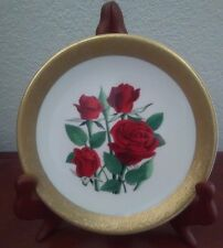 """""""Black Jade """" Miniature Rose Plate Part of  Celebration of Love Collection"""