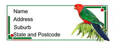 30 Personalised Quality Plus Adhesive Address Labels -  King Parrot