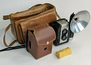 1950s Argus Seventy-Five Camera, Flash, Cover, Case, Strap and Film