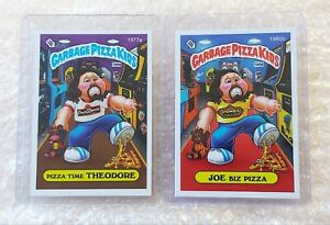 GPK GARBAGE PIZZA KIDS SET (1977a / 1980b) LIMITED EDITION - SET OF 2 CARDS RARE